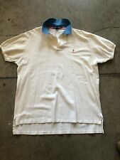 Vintage Ralph Lauren Polo Cotton - Large - White, Baby Blue & Pink Polo Player
