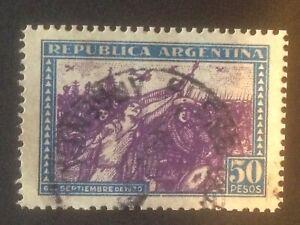 Argentina stamp sello de revolution 50 pesos 1930