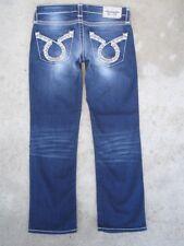 536859d0708 Big Star Womens Liv Crop Capri Jean Sz 26 Low Waist Straight Leg Distressed  L 26