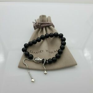 DAVID YURMAN Women's Spiritual Bead Bracelet Black Onyx Adjustable size