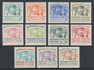 Mexico Sc 806/C157 MNH. 1945 National Literacy Campaign, cplt set, VF