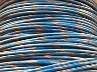 AUTOMOTIVE WIRE 10 AWG HIGH TEMP GXL WIRE BLUE ORANGE STRIPE 25 FT MADE IN U.S.A
