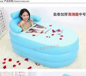 Portable Folding Inflatable Bath Tub with Air Pump for Family Bathroom SPA