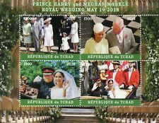Chad 2018 MNH Prince Harry & Meghan Royal Wedding 4v M/S I Royalty Stamps