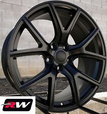 "Dodge Durango Wheels 20"" inch 20x9"" Satin Black SRT Night Rims 5x127 5x5.00"" +34"