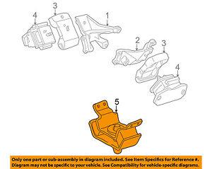 12371-50120 Toyota Insulator, engine mounting, rear no.1 1237150120, New Genuine