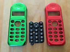 2 x FRONT CLIP-ON COVERS FASCIAS HOUSINGS & KEYPAD FOR PHILIPS C12 SAVVY PHONES