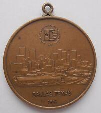 1976 Dallas Texas Revolución Americana medalla Bicentenario Bronce