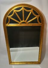 Vintage antique Labarge beveled Mirror gold leaf arched art deco style 52x28""