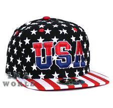 USA American Flag hat USA Embroidered Stars and Stripes Snapback Baseball cap