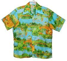 Vin 70s XL Hawaiian Disco Shirt CARRIAGE HOUSE of CALIFORNIA Poly Horse & Wagon