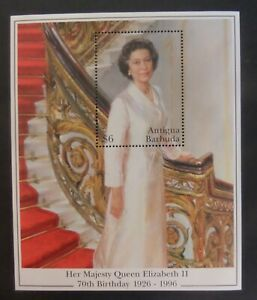 Antigua 1996 Queen 70th Birthday MS MS2358 MNH unmounted mint never hinged