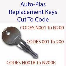 Auto-Plas Car Vehicle Roof Box, Bars, Cycle Rack Replacement Key Cut to Code