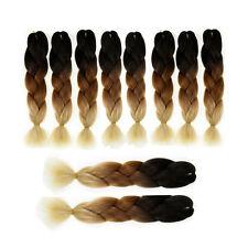 10 pieces 24'' Ombre Jumbo Braiding Hair Kanekalon Afro Braids 100g/pc 3 Tone 19