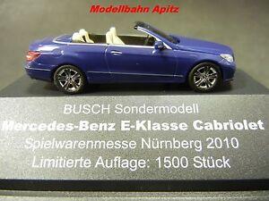 Busch Mercedes Benz Cabrio E-Klasse blau Spielwarenmesse Nürnberg 2010 limitiert
