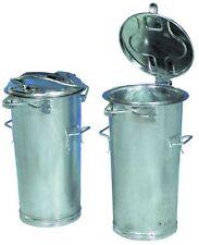 Details zu Abfallsammler mit Haube Volumen 50 l antik silber Mülleimer Mülltonne