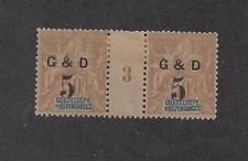 """GUADELOUPE - 45 TYPE a - GUTTER PAIR - MILLESIME 3 - MH 1903 - """"G & D"""" O/P"""