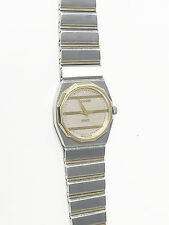 Concord Mariner SG Two-Tone Silver Gold 18K Bars & Bezel Swiss Made Watch