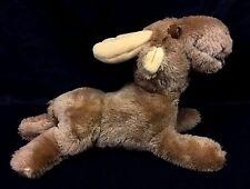 "R Dakin Maxie Moose Brown 12"" Long Plush Stuffed Animal Nutshells Vintage 1978"