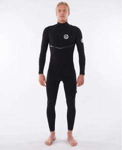 Rip Curl Men E-Bomb 3/2 Zip Free Wetsuit Black RRP$449 Size M - Free Postage