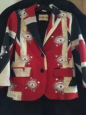 **LIBERTINE** Union Jack Embellished Blazer Jacket **COMPLETELY UNIQUE/ONE OFF**