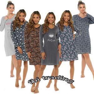 Ladies Nightdress Nighties Nightshirt WomenS  PJS LOUNGEWEAR PYJAMAS long sleeve
