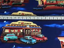TIMELESS TREASURES   ROUTE 66 DINER  QUILTING  FABRIC   ONLY  2.79  FAT QUARTER