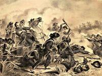 Death of General Nathaniel Lyon Wilson's Creek1862 Virtue Civil War Battle Scene