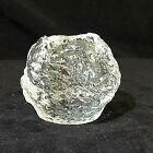 Vintage Clear Snowball Glass Votive Candle Holder Preowned