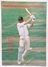 Glenn Turner Signed 1978 Benefit Brochure Worcestershire New Zealand Autograph