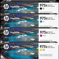 4 Inks Set HP Genuine 975X L0S09AA L0S00AA L0S03AA L0S06AA For PAGEWIDE PRO 477