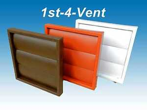 """4"""" 100mm GRAVITY FLAP WALL OUTLET GRILLE AIR VENT for EXTRACTOR FANS, DUCTING"""