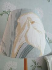 Handmade Coolie Lampshade Laura Ashley Lilium Grey Green fabric 35cm