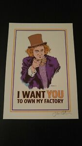 WILLY WONKA 'I Want You to Own' MINI Print by Jermaine Rogers Poster Primus