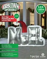Gemmy Christmas Airblown Inflatable Mixed Media Noel Santa Clause Sign
