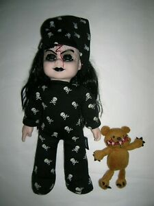 new Living Dead Dolls Bedtime Sadie plush with bear excellent condition