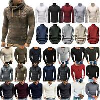 US Mens Winter Warm Sweater Knitted Pullover Jumper Sweatshirt Jacket Hoodie Top