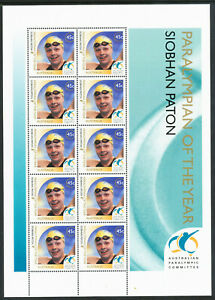 Australian 2000 Olympics, Paralympian of the Year Sheetlet, Mint Never Hinged