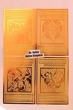 USA Seller Anime Egyptian God Golden Metal Card Obelisk Slifer RA & HORAKHTY