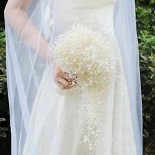 Wedding Bouquet Bridal Holding Flowers Pure Pearls Bridesmaid Flowers Luxury New