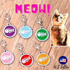 Buy 4 Get 1 Free √ Cat Tag Tags Dog Tags Pet Charm Engraved Personalized