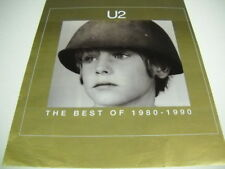 U2 The Best Of 1980-1990 PROMO DISPLAY AD young boy wearing army helmet