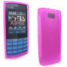 Pink Jelly Case Cover Gel Skin for Nokia X3-02 X3 + SP