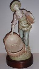 Royal Dux Young Man with Baskets Figure, Nice!