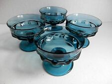 4 Vintage Indiana King's Crown Champagne/Sherbet Dishes in Colonial Blue 1976