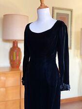50s Cocktail Dress Jonny Herbert 1950s Black Velvet Designer Vintage Dress