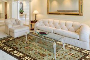 Hand Knotted Wool Silk Rug Home Décor Antique Look Carpet 4x6 Feet DN-317