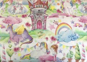 Fairytale Kingdom Digital Cotton Fat Quarter 100% Cotton Fabric 45cm x 55cm