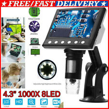 431000x Hd Lcd Monitor Electronic Digital Video Microscope 8led Magnifier
