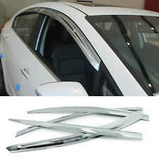 Chrome Window Sun Vent Visor Rain Guards 4P C510 For KIA 2013-17 Forte K3 Sedan